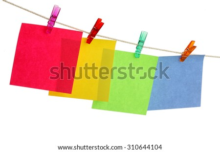 stick note isolated on white background - stock photo
