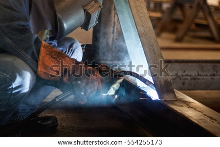 Stick Welding tips and tricks during the welding of steels & Stick Welding Tips Tricks During Welding Stock Photo u0026 Image ...