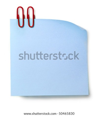 Sticker and clip isolated on the white background