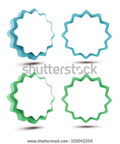 Sticker 3d blank - Tag isolated on white background. Splash in Brazil. Path save. - stock photo
