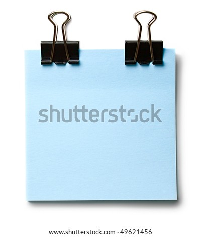 Stickers and clip isolated on the white background