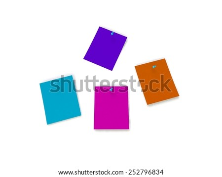 Stickers note isolated on the white - stock photo