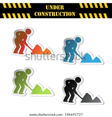 stickers - under construction symbols