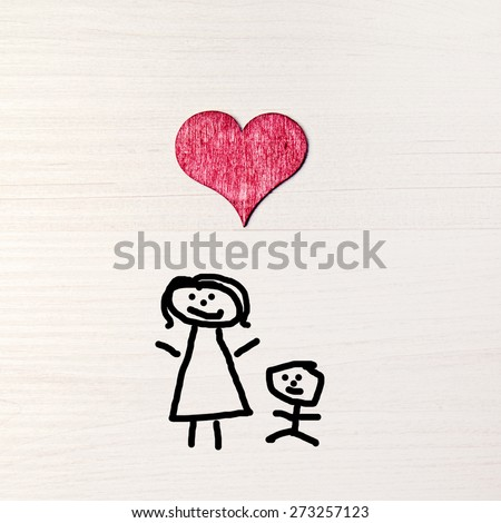stickman background - greeting card - mothers day