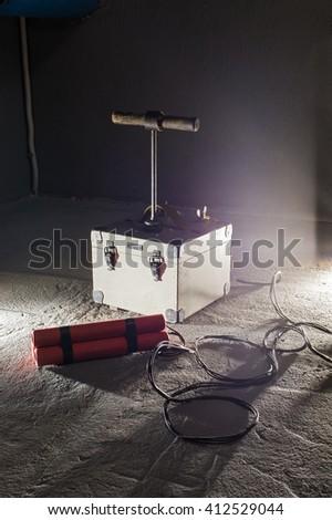 sticks of dynamite - stock photo