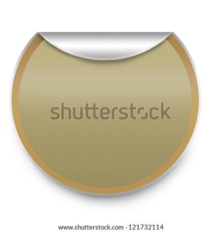 sticky isolated on white - stock photo