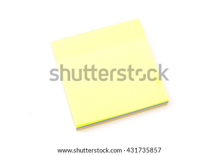 Sticky note isolated on white background