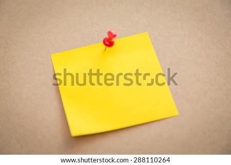 Sticky note on board - stock photo