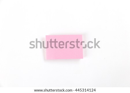 sticky notepad memo on white background
