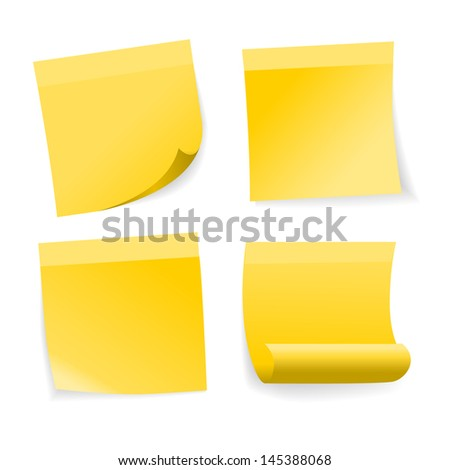 Sticky notes. Raster version. Vector version available in my portfolio