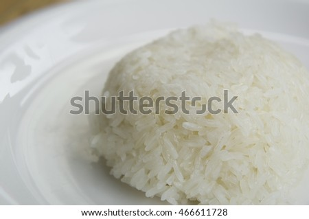 sticky rice plate background food thai