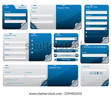 Sticky web form template - stock photo