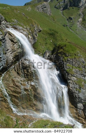 Stieren waterfall near Engelberg in the Swiss Alps