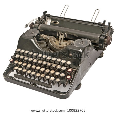 still acting old-time typewriter of the black colour