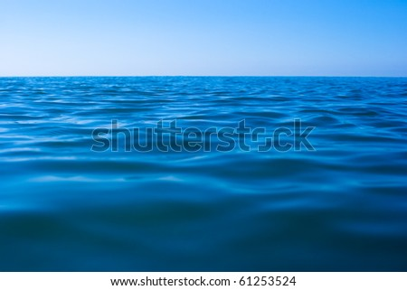 still calm sea water surface - stock photo
