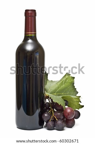 Still life about red wine. - stock photo