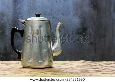 still life classic kettle - stock photo