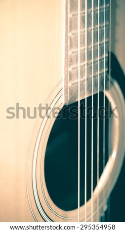 still life close up part of guitar vintage style