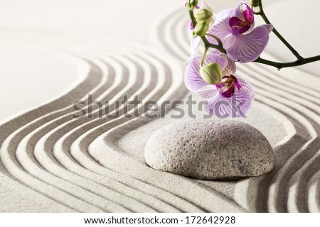 still-life for zen sensuality and harmony - stock photo