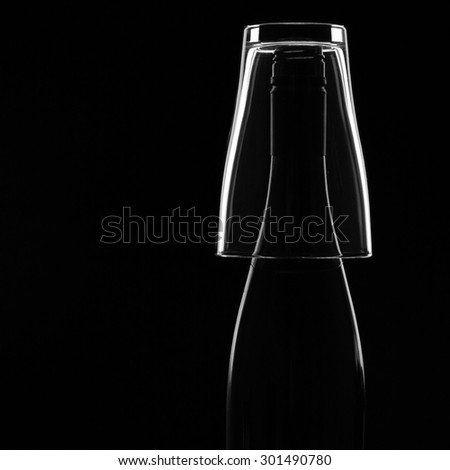 still life/glass backlit/abstract - stock photo