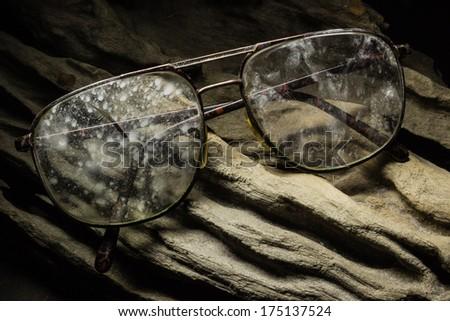 Still Life Glasses on wood - stock photo