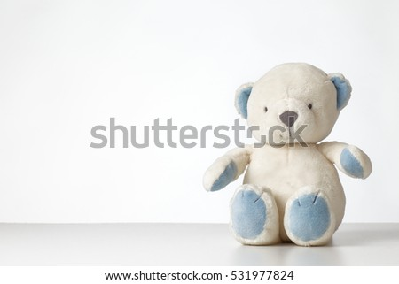 still life image of a lonely teddy bear