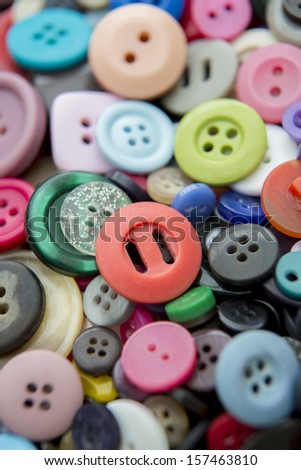 Still Life Of Colorful Buttons
