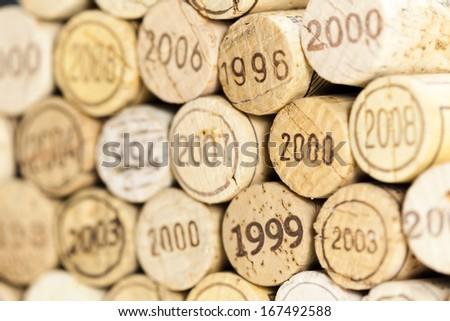 still life of corks - stock photo