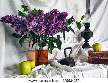 Still life of lilac - stock photo