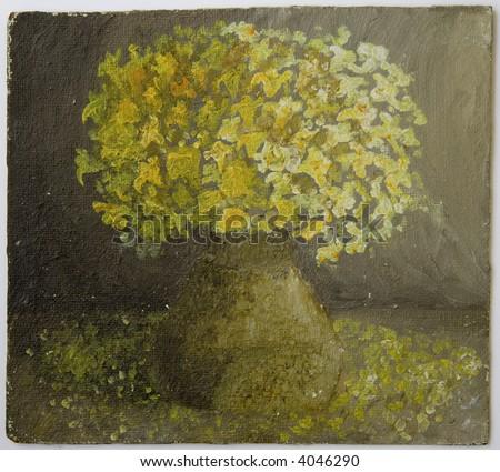 Still Life: oil on canvas. - stock photo