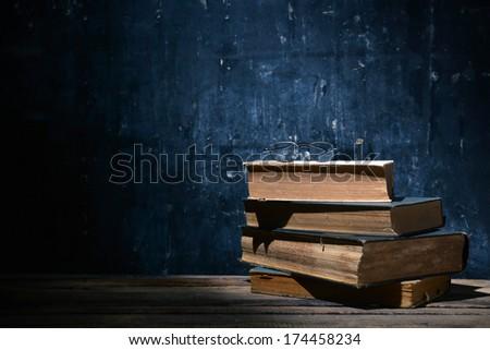 Still life. Old book - stock photo