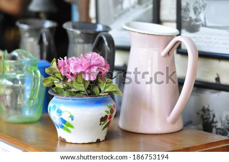 Still life with a beautiful bunch of flowers - stock photo