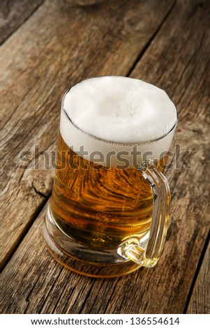Still Life with a beer in the mug - stock photo