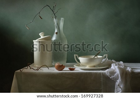 Still life with a bowl - stock photo