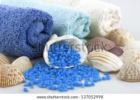 still life with bath towels