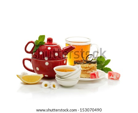 Still-life with breakfast - stock photo