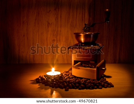 still life with coffee and candle for your illustrations