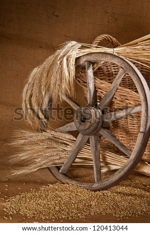 still life with old felly - stock photo