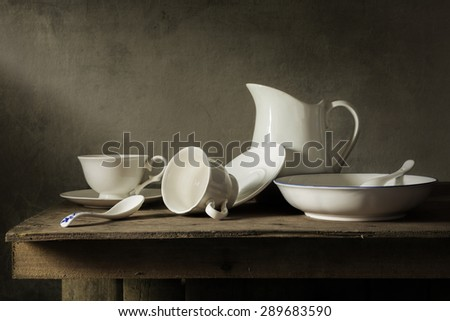Still life with tableware - stock photo