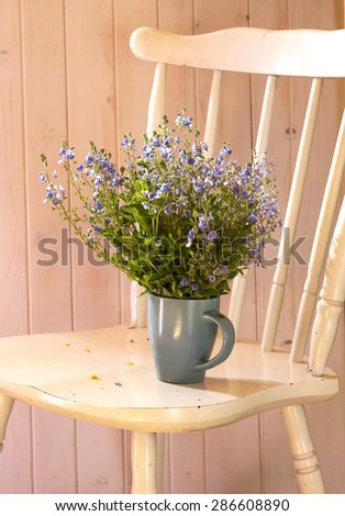 still life with wild flowers, spring time