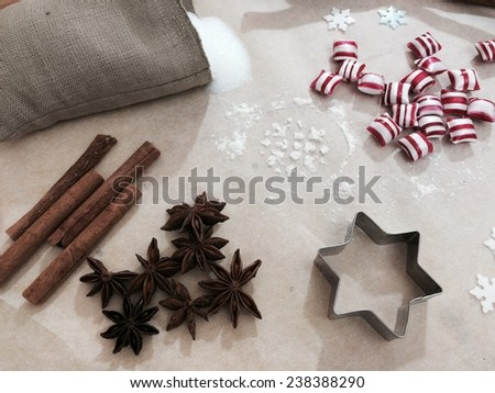 Stillife of Christmas baking  - stock photo