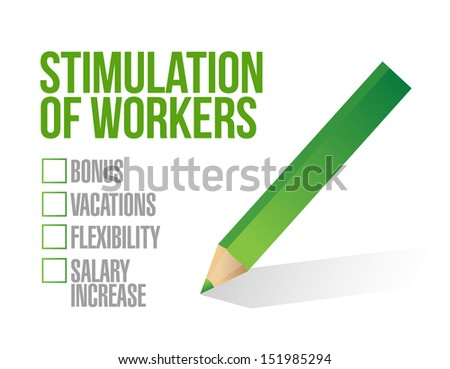 stimulus for workers checkbox list illustration design graphic