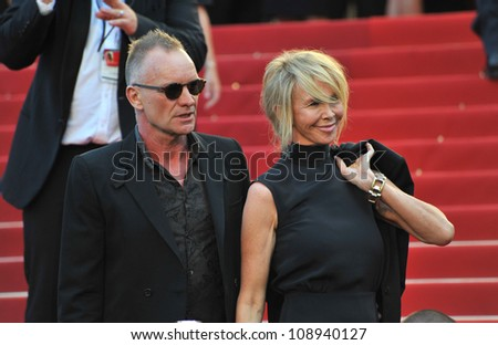 "Sting & Trudie Styler at the gala screening of ""Mud"" in competition at the 65th Festival de Cannes. May 26, 2012  Cannes, France Picture: Paul Smith / Featureflash"