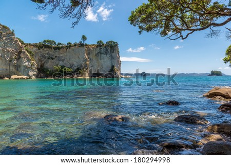 Stingray bay, Coromandel - North Island, New Zealand - stock photo