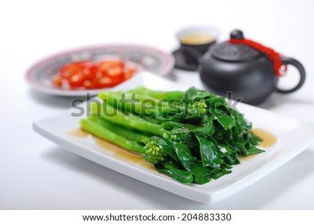 Stir Fried chinese Kale - stock photo
