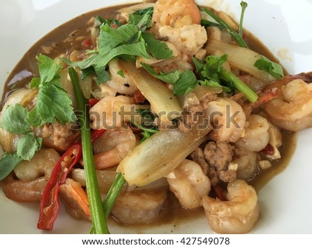 stir fried Shrimp with salty egg