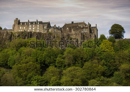 Stirling Castle rear view - stock photo