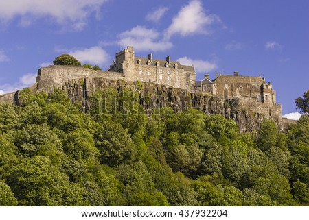 STIRLING, SCOTLAND - AUGUST 27, 2004: Stirling Castle, on Castle Hill.