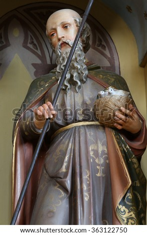 STITAR, CROATIA - AUGUST 27: St Joachim, father of the Virgin Mary, altarpiece on altar of Our Lady in the church of Saint Matthew in Stitar, Croatia on August 27, 2015 - stock photo