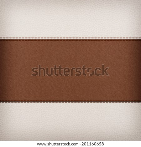 stitched leather background red and brown colors - stock photo